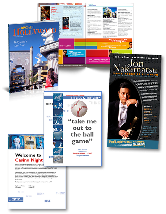 monthly magazines and event programs